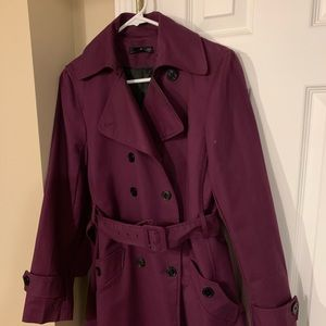 Woman's will smith trench coat purple size 6